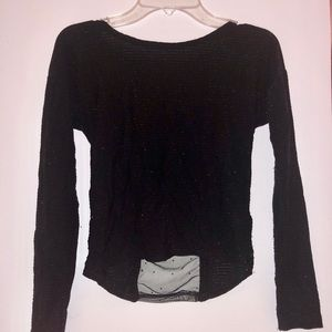 Other - Sparkly Black Long Sleeve Shirt